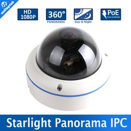 """Wholesale Low Lux Dome Camera - 1 2.8""""IMX291 2.0MP Dome IP Camera With POE,1080P 0.0001Lux Starlight Low Lux Day Night Color Image Camera,Fisheye 5MP 1.7MM Lens"""