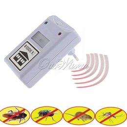 Wholesale Electronic Ultrasonic Anti Mosquito - Ultrasonic Pest Repeller Electronic Pest Control for Rodent Mouse Anti Mosquito Insect EU US Plug Optional