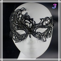 Wholesale Cheap Black Masquerade Masks - Cheap Price Half Faces Eye Masks Masquerade Masks Mardi Gras Venetian Prom Dancing Party Mask black Lace Masks With 15 Types