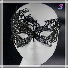 2019 tipos de festa de máscara Barato Preço Metade Faces Máscaras de Olho Masquerade Máscaras Mardi Gras Venetian Prom Dança Do Partido Máscara Máscaras de Renda Preta Com 15 Tipos