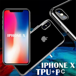 Wholesale Iphone Crystal Bumper Cases - Ultra Thin Crystal Clear transparent PC Back TPU Bumper Case Scratch Resistant For iPhone X clear silicone Cover Shockproof For iPhone 10 8