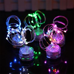 Wholesale led submersible lights white - 2M 20 LED CR2032 Battery waterproof String Lights for Xmas Party Wedding Decoration Christmas submersible Fairy Lights