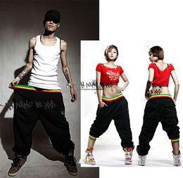 Wholesale Womens Drop Crotch Pants - Wholesale-2015 Womens Mens Harem Hip Hop Dance Pants Big Low Drop Crotch Pants Men Loose Hip Hop Sweatpants Dance Joggers Bandana Pants