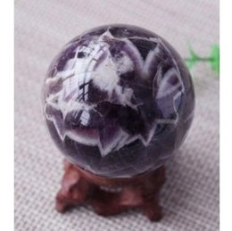 Wholesale Polished Amethyst - 40mm natural dream amethyst sphere tumbled plum purple polished amethyst ball healing crystal stone gift decoration
