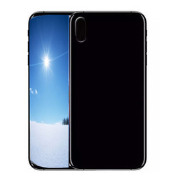 Wholesale French Front - Unlocked phone Goophone X iX i8 plus 5.5inch 1GB RAM 4 ROM Show 4G lte Quad Core MTK6580 with face id Mobilephone