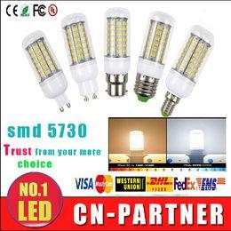 Wholesale Bulb B22 - X100PCS led corn E27 E14 B22 GU10 G9 Led Lights 7W 12W 15W 18W Led Bulbs Corn Lights 360 Degree 24LEDs 36LEDs 48LEDs 56LEDs 69led AC 85-265V