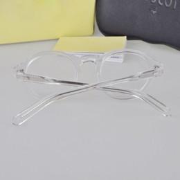 2019 óculos materiais Moda Vintage Armações de Óculos de Forma Redonda Armações de Óculos para Homens e Mulheres Material de Metal Memória Colofonia Venda Quente 013 óculos materiais barato