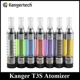 Wholesale E Cigarette T3s Clearomizer - Authentic Kangertech T3S Atomizer 3.0ml CC Clearomizer Kanger T3 Plus Vaporizer 510 EGO Thread fit EGO 510 E Cigarette Batteries DHL Free