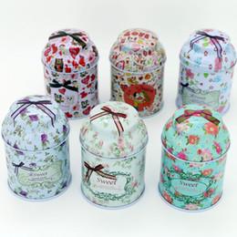 Wholesale Wedding Sugars Favors - 5.4*7.4cm Coffee Sugar Tea Tin Box Storage Jars Home Candy Box Wedding Supplies Party Favors