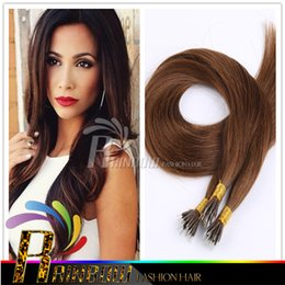Wholesale Hair Extensions Wholesale India - 2016 hot selling!!!New Arrival Nano Hair Extensions,100%India virgin Hair,So easy!!! More comfortable!!!,#4, dark brown