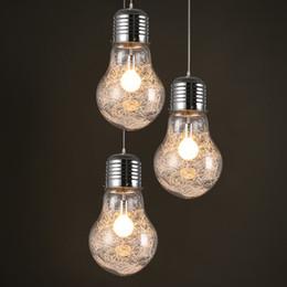 2019 ampoule à fil Élégant Big Bulb Modle Pendentif Lampe Livraison Gratuite Nouveau Moderne Salle À Manger En Aluminium Fil à l'intérieur En Verre Abat-Jour E27 LED Suspension ampoule à fil pas cher