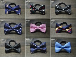 Wholesale Bowties Children - 2015 kids bowties new design Bowtie dot kids bow Tie Baby Boys Necktie kids girls accessory high quality ties for children