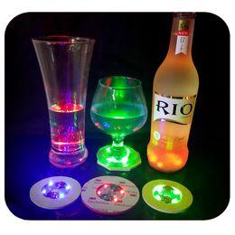 luces led botellas de cerveza Rebajas Slim EVA LED botella de luz CUP pegatinas Mat taza almohadilla botella de cerveza 3M pegatinas Bar suministros 1000 unids customizeable