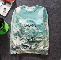 Wholesale Tyga Sweatshirts - Wholesale-2015 Newest 3D sweatshirt This is hip hop eminem tyga drake graphic sweatshirt Snowy forest landscape graphic women men hoodies