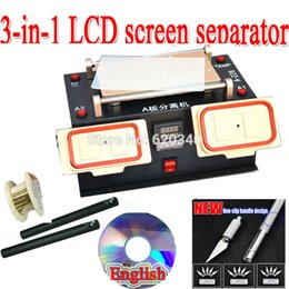 Wholesale Machine For Lcd Screen - Wholesale-EU NEW 3 in 1 lcd screen separator +Middle Bezel Frame Separate Machine for Samsung galaxy + built-in vacuum pump Free shipping