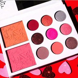 Wholesale Valentines Wear - New Hot Kylie diary Kylie's Diary Eyeshadow Kylie VALENTINES DIARY Eyeshadow & Blush Palette kylie valentines collection kyshadow 11 Colors