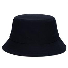Wholesale Wide Brim Hat Women - Wholesale-10 Colors !! Solid Color Bucket Hats for Men Panama Women Fishing Hat Z-1570