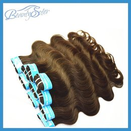Wholesale 1kg Hair Extensions - Wholesale Cheap Virgin Brazilian Human Hair Extensions Body Wave 1kg 20pcs lot Grade 5A Color#2 Brown New Wavy Style 14inches~22inches DHL
