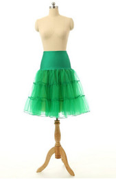Wholesale Crinoline Net White - Emmani Underskirt Swing Vintage Petticoat Net Skirt Rockabilly Tutu 5 Colors Red White Blue Purple Black Free Shipping Petticoats Hot Sale