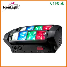 Wholesale New Led Moving Head - Free Shipping 2016 New Hot Selling 8PCS*3W RGB Mini LED Spider Moving Head Light for Disco,Dj and Small club Lighting