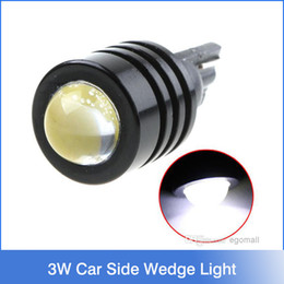 Wholesale 194 Smd Led - 3W High Power T10 W5W 194 927 161 White SMD LED Car Side Wedge Light Reading Lamp tail lights