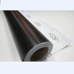 papel de embrulho de fibra de carbono Desconto Nova 127 cm x 20 cm 3D Auto Fibra De Carbono Filme De Vinil De Carbono Carro Envoltório Folha De Rolo De Papel Filme Motocicleta Adesivos de Carro Decalque Do Carro Styling