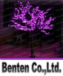 Wholesale led cherry trees - LED Artificial Cherry Blossom Tree Light Christmas Light 1,040pcs LED Bulbs 2m 6.5ft Height 110 220VAC Rainproof Outdoor Use LLFA4816F