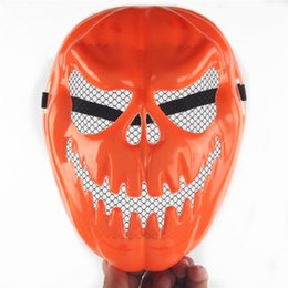 Wholesale Wholesale Resin Pumpkins - Halloween pumpkin mask Halloween horror masks thick bar dance party play props supplies wholesale