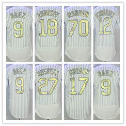 Wholesale Kris Bryant - NWT 2016 World Champions Chicago Baseball Gold Program 9 Javier Baez 12 Kyle Schwarber 17 Kris Bryant 44 Anthony Rizzo 18 Zobrist Jerseys