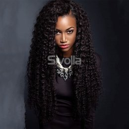 Wholesale Life Hair - Virgin Human Brazilian Kindky Curly Glueless Full Lace Human Hair Wigs with Baby Hair Bleach Knots for Black Lady's Beauty Life