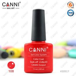 Wholesale Wholesale Hot Sale Soak - 30917x 240pcs Free Shipping 100% CANNI Factory Hot Sale Nail Art Soak off UV LED 207 Colors 7.3ml CANNI UV Gel Polish