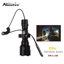 Wholesale Tactical Scope Light - C8 Tactical Gun Flashlight Torch 2200LM CREE XM-L2 LED 5 Modes LED Flash Light Lanterna+gun scope bases Mount+remote switch