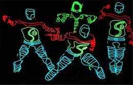 beste neon bar leuchten Rabatt 3 Mt Flexible Neonlicht Glow EL Drahtseil Rohr Flexible Neonlicht 8 Farben Auto Dance Party Kostüm + Controller Weihnachtsfeier Decor Licht