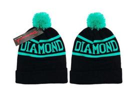 Wholesale Names Hats - Skullies Beanies diamond knitted casual hats for women men brand name diamond cap winter hip hop gorro masculino bone casquette homme