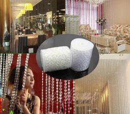Wholesale Wholesale Bead Garland - 99feet 10mm Crystal Garlands Acrylic crystal curtain string Gems Bead Strands Wedding Centerpieces Manzanita Tree Hung Strands Strung wa081