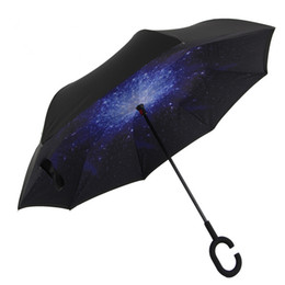 Wholesale Down Proof - Windproof Reverse Closing Double Layer Inverted Umbrella and Inside Out Upside Down Rain Protection ultraviolet-proof Umbrella