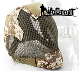 2019 máscaras de airsoft de malla WoSporT Airsoft Paintball Protección táctica Malla de acero Full Face V6 Keeper Máscara multicolor para cercas al aire libre CS rebajas máscaras de airsoft de malla
