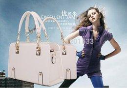 Wholesale Hugo Men - Wholesale-2015 NEW fashion beige handbag shoulder Tote women vintage messenger bag PU leather handbags Bolsas Victor Hugo Bag