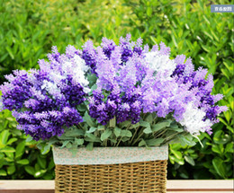 Wholesale Flower Shop Displays - 36cm lavender flower real touch artificial flower silk flower very beatiful decorative flower for wedding shop and party Free shipping