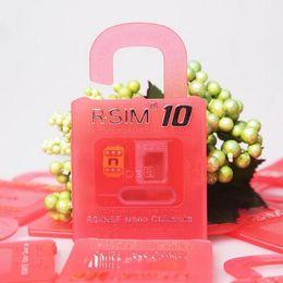 Wholesale Sim Unlock Adapter Card - Original Newest Unlock Card R-SIM 10 R sim 10 directly used for iphone 6s 6splus 6 6plus 5s 5c 5 iOS6. X-9.X WCDMA GSM CDMA