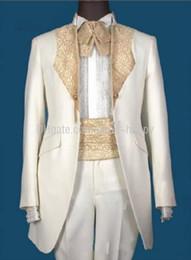Wholesale Men Ivory Dress Pants - High Quality Men Apparel & Groom Wear & Groomsman Dresses &Beautiful Wedding Apparel (Jacket+pants+tie+girdle) 159