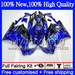 Wholesale Honda Cbr 1992 - Bodys Motorcycle For HONDA CBR 600F2 FS Blue flames CBR600 F2 91 92 93 94 46MY6 CBR600FS 91 CBR 600 F2 CBR600F2 1991 1992 1993 1994 Fairing