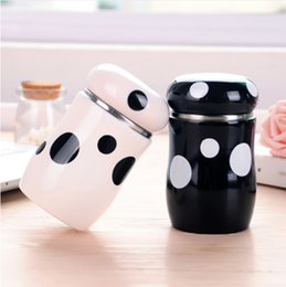 Wholesale Thermos Coffee Cup Mug - 300ml Creative Mushroom Thermos Vacuum Flask Travel Cup Coffee Mug Stainless Steel Thermo Water Cups and Mugs