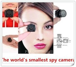 Wholesale smallest mini dv - 1pcs The World smallest camera Mini HD Y2000 Video Camera Small Mini Pocket DV DVR Camcorder Recorder Spy Hidden Web Cam PQ150