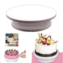 Wholesale Wholesale Plastic Cake Plates - Cake Tools Revolving Cake Sugarcraft Turntable, cake swivel plate, Decoration Stand Platform turntable Baking tools TY1701