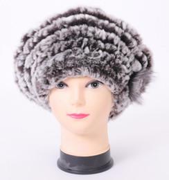Wholesale High Quality Mink Hats - Wholesale-2015 Top quality real rex mink rabbit fur hat Women's winter cap high quality winter women beret hat with small flower