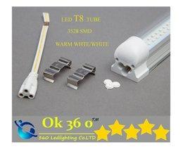 Wholesale Led Tube Lights Base - Integrated LED tube light T8 Tube+base all-in-one Sets 1800mm 1.2M 18W SMD 3528 LED fluorescent tube lamp 4 feet high brightness CE ROHS