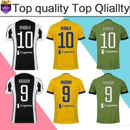 Wholesale Beige Uniform - 2018 home Soccer Jersey 17 18 DYBALA away yellow Soccer Shirt Customized MARCHISIO MANDZUKIC HIGUAIN 3rd football uniform Sales