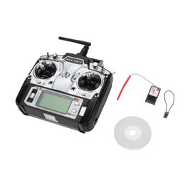Wholesale Plastic R6 - Original 2.4GHz 6CH Mode 2 Flysky FS-T6 Transmitter W Receiver R6-B for RC Multirotor Quadcopter Helicopter Plane Glider Car