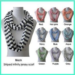 Wholesale Chevron Polyester Infinity Scarf - New High quality Wave Chevron Infinity Scarf Women and Teens Circle Loop scarf circle ring scarf Loop scarf